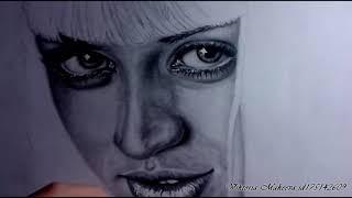 """сериал """"Чёрная лагуна"""", Рисование портрета Ana de Armas (Carolina Leal )"""