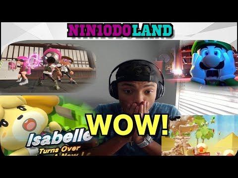 LUIGI'S MANSION 3, ANIMAL CROSSING, YOSHI, ISABELLE IN SMASH!!! [Nintendo Direct Reaction] (видео)