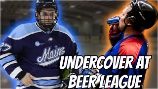 D1 Player Goes Undercover at Beer League | Road to Pro Hockey