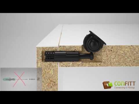 Confitt - Werkzeuglose Möbelverbinder - Furniture toolless assembly