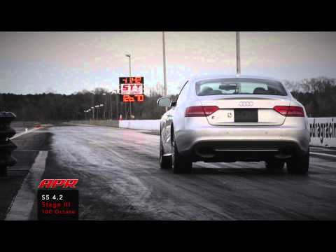 APR Audi S5 4.2L FSI V8 Stage III+ TVS1740 Supercharger System Quarter Mile!