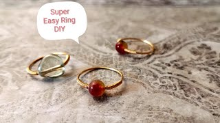 Easy Ring/Minimalist Style/Wire Wrap Ring Tutorial/DIY Accessories (2019)