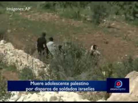 Muere un adolescente palestino por disparos de soldados israelíes