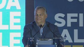 Jobboldali Olasz Testvérek párttalálkozója, Róma. Orbán Viktor beszéde és válaszai a kérdésekre