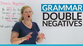 English Grammar: Fix your double negatives!