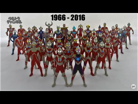All Ultraman Transformations (1966-2016)