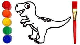 How to Draw a Dinosaur   Drawing and Painting Creative for Kids