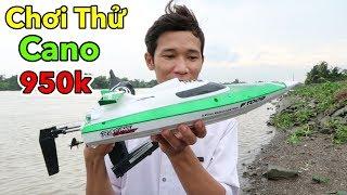 Lâm Vlog - Ra Sông Cái Chơi Thử Cano Điều Khiển Từ Xa Giá 950k | Bay Lên Bờ Luôn