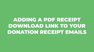 How to Add a PDF to Your Donation Receipts with GiveWP