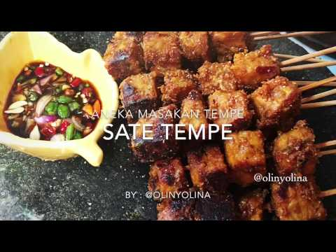 Video Resep Cara Membuat Sate Tempe by @olinyolina