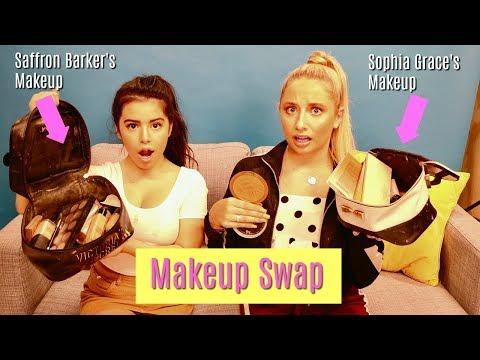 Makeup Bag Swap with Saffron Barker | Sophia Grace
