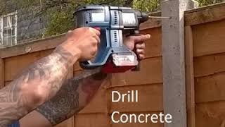 Quick video on How to drill concrete fence post without damage