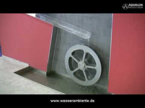 """Wasserwand mit Wasserrad """"Aqualon"""""""