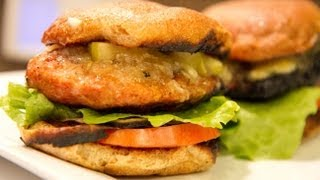 Pork Burgers with Apple Jelly Glaze