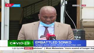 Embattled Nairobi Governor Mike Sonko says that people are fighting him