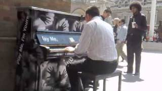 Michael Jackson Medley piano London Liverpool Street