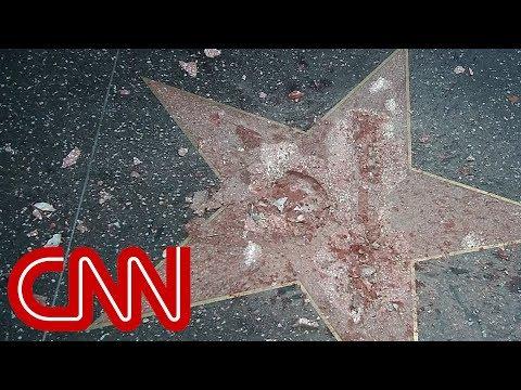 Trump's Hollywood star destroyed
