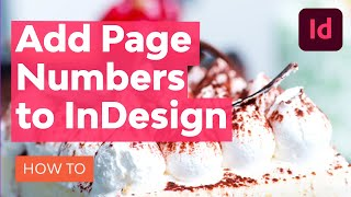 How to Add Page Numbers in InDesign