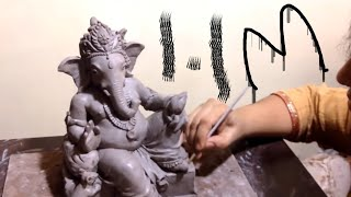 How To Make Ganesh With Clay At Home Easy