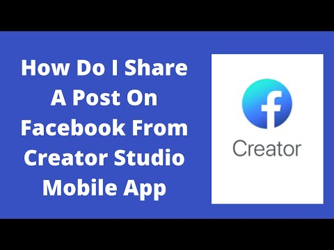How do I share a post on Facebook from creator studio
