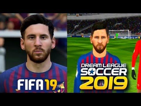 FIFA 19 VS DLS 19 Players Faces Comparison | FC BARCELONA
