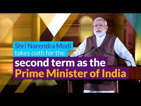 Shri Narendra Modi takes oath for the second term as the Prime Minister of India   PMO