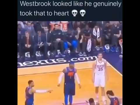 Westbrook mad at Steven Adams for not giving him a high-five 😳