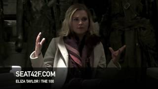 Eliza Taylor The 100 Set Visit Interview