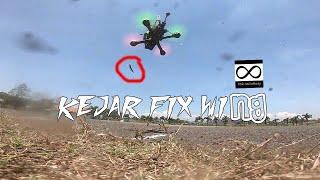 Drone racing 5inch kejar pesawat RC fix wing