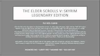 The Elder Scrolls V: Skyrim Legendary Edition [FREE TORRENT]