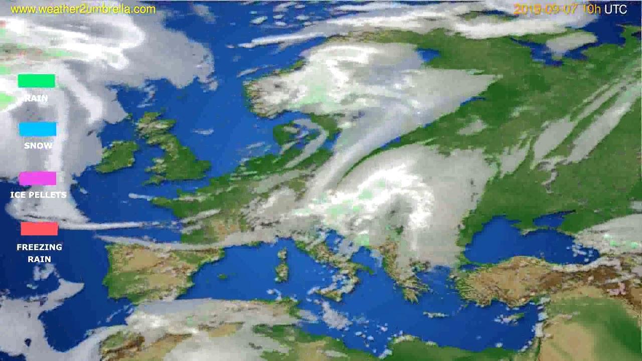 Precipitation forecast Europe // modelrun: 00h UTC 2019-09-05