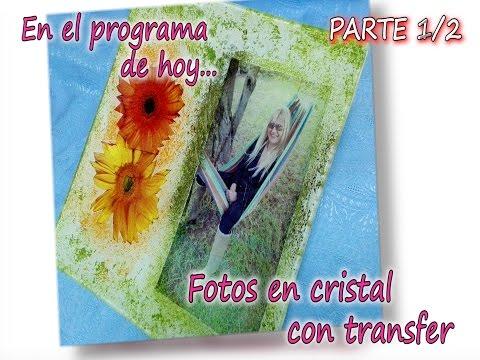 FOTO EN CRISTAL CON TRANSFER  Parte 1/3