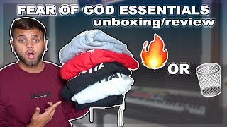 FEAR OF GOD ESSENTIALS X PACSUN REVIEW & TRY ON