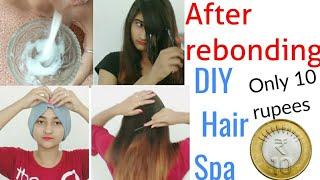 सिर्फ 10rupee Hair Spa करे | Homemade Hair Spa | Festival Special Hair Spa |after Rebonding Hair Spa