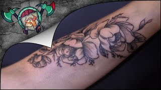 The Delicate Flowers Tattoo Time Lapse