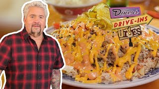 Guy Fieri Tastes CHEESEBURGER Fried RICE (from #DDD)   Food Network