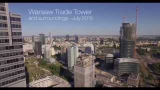 Warsaw Trade Tower filmed with drone.