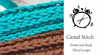 Tutorial - How to crochet the Camel Stitch
