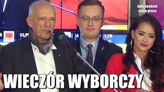 Wieczór wyborczy Konfederacji w HD i 60 klatkach na sekundę. 13.10.2019 Janusz Korwin-Mikke