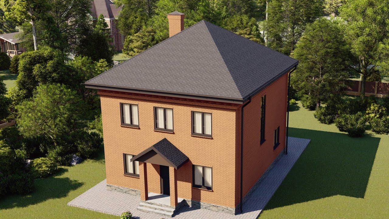 Проект двухэтажного дома 189 м2 с мастер-спальней