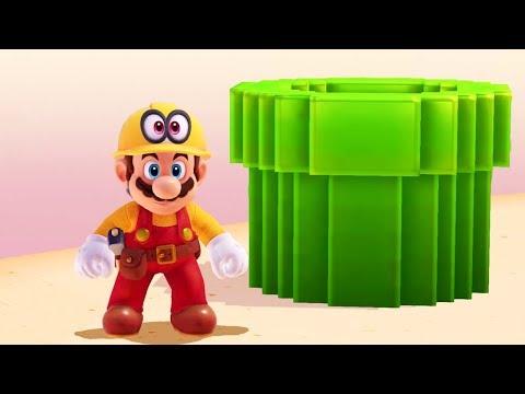 Super Mario Odyssey - All Secret 8-Bit Warp Pipes (Classic 8-Bit Mario Sections)