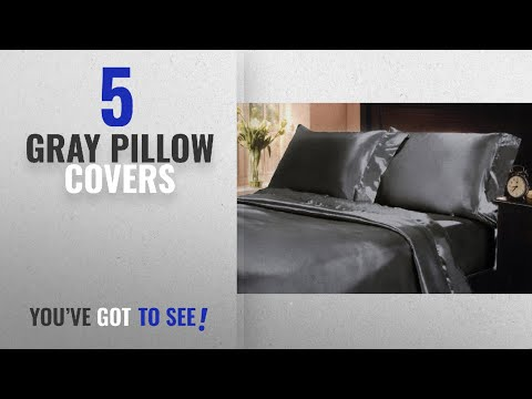 Top 10 Gray Pillow Covers [2018 ]: Mk Collection 2pc Soft Silky Satin Solid Color Standard/Queen