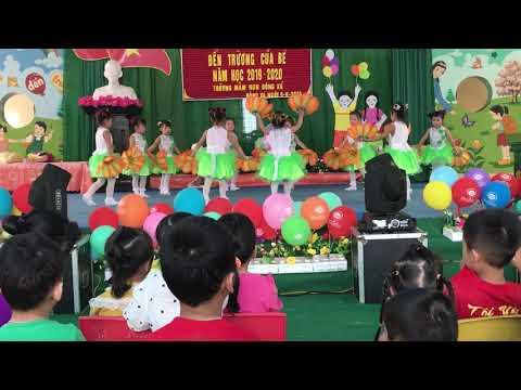 """Bài múa """"Mầm non hạnh phúc """"khối 4 tuổi trường MN Đông Xá"""