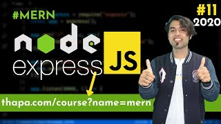 🔴 #11: NodeJS Query Strings   URL Parameters in Express JS in Hindi in 2020
