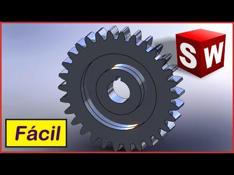 Diseño de un engrane o rueda dentada en Solidworks 2016