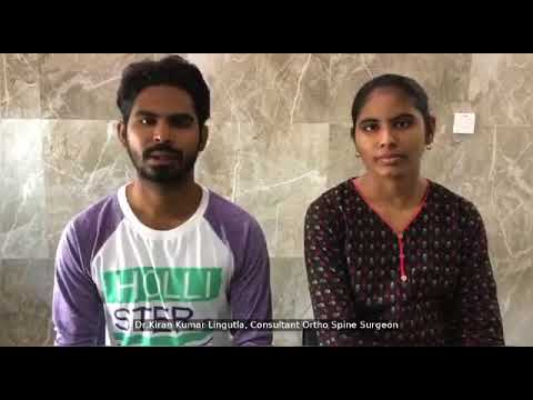 Patient Nagalakshmi :Spine trauma patient. Post operative Testimonial