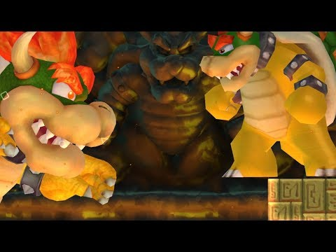 New Super Mario Bros Wii - Giant Bowser VS Giant Bowser