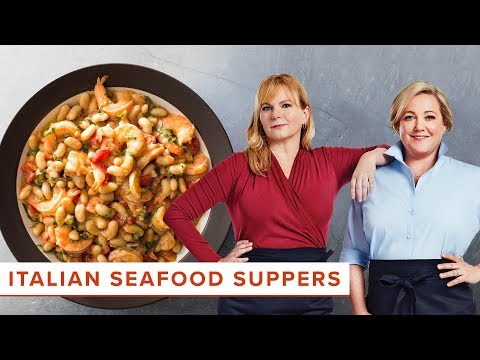 Italian Seafood Suppers: How to Make Linguine allo Scoglio and Tuscan Shrimp and Beans