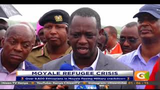 Kenya CitizenTV - Over 9,600 Ethiopians in Moyale fleeing Military crackdown