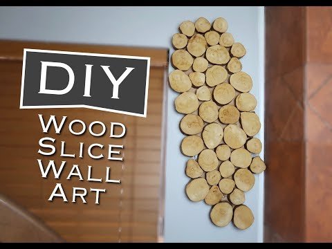DIY WOOD SLICE WALL ART | Under $10